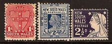 AUSTRALIA NEW SOUTH WALES 1898 YEAR OF QUEEN VICTORIA SC # 98-100 MH