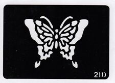GT210 Body Art temporary glitter tattoo stencil - Butterfly Butterflies
