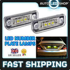 MERCEDES BENZ E CLASS W211 WHITE LED NUMBER PLATE LIGHTS LAMP SMD BULBS
