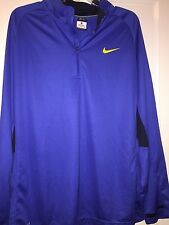 NIKE DRY FIT ELITE LIGHT WEIGHT 1/4 ZIP BLUE PULLOVER MEN'S SIZE XL