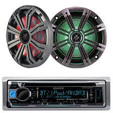 "KMR-D365BT Marine CD Mp3 iPod USB Pandora Radio, Marine Kicker 6.5"" Speaker LED"