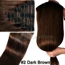 Any Colors Thick Clip in Remy Human Hair Extensions Double Weft 110g-200g BS216