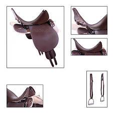 "UNIVERSAL PATTERN ""UP"" Trooper / Military Saddle 19"" - Pure Leather"