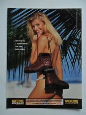 2000 Print Ad Wolverine Shoes Leather Boots ~ Sexy Girl Blonde