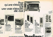 PUBLICITE 1972   MOULINEX  éléctroménager  (2 pages)