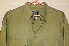 Mens VERSACE Jeans Couture ButtonFront Medusa Striped Green Halogram Dress Shirt