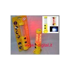 LAMPADA LED EMERGENZA AUTO MAGNETICA LAMPEGGIANTE CON MAGNETE MARTELLINO VETRO