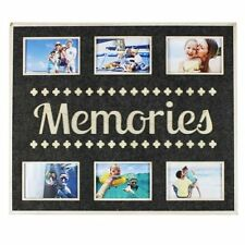 HUGE FELT SIX PHOTO PICTURE FRAME COLLAGE MEMORIES SENTIMENT FAMILY GIFT NEW