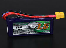 TURNIGY NANO-TECH 1500mAh 2S LIPO BATTERY 7.4V 35C XT60 CAR TRUCK QUAD WLTOYS RC
