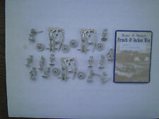 15mm Mini Figs  French & Indian War  Heavy Field Guns with british Crews