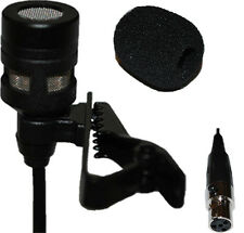 Lavalier Lapel Mic with 4 pin mini XLR Connector for Shure wireless