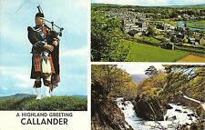 BR66214 a highlander greeting callander types folklore costumes scotland 14x9cm