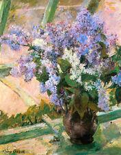 Cassatt Mary Flowers In The Window Print 11 x 14   #5615