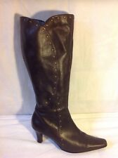 Clarks Brown Knee High Leather Boots Size 5.5
