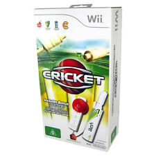 CRICKET Wii GAME Bundle with Ball & Bat PAL AUS *NEW!*