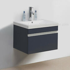 "Vanity Sink PICKUP LOS ANGELES 24"" GRAY modern bathroom cabinet wall hung"