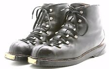 Vintage WWII Alpine Cross Country SKI Trail Boots Mens 10 E Rustic Lodge Decor