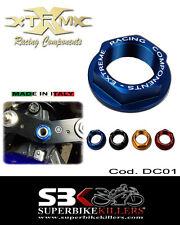 Lenkkopfmutter,EXTREME,Suzuki GSXR 1000 K3 K4 K5 K6 K7 K8 K9 L0 L1, Blau, DC01