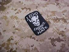 """SEAL TEAM THREE """" EMBRACE THE HATE """" AOR1 AOR2 BLACK  AFGHAN PATCH"""