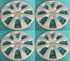 "Set of 4 15"" Hubcaps Wheelcovers Fit 2009-2013 Toyota Corolla with Chrome Emblem"