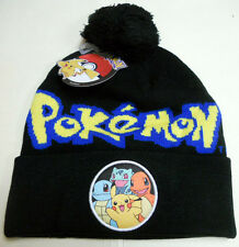 POKEMON Charmander PIKACHU Squirtle BULBASAUR knit beanie HAT Pokemon Go starter