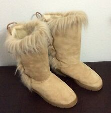boots fuzzy nation Womens size 11 Faux Suede Fur Soft Prettier than UGGS  READ