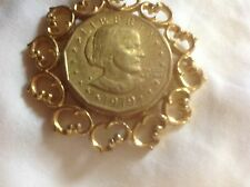 Susan B Anthony 1979 Gold Plated Pendant