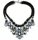 N735 Betsey Johnson Crystal Gem Blue Rhinestone Wedding Accessories Necklace US