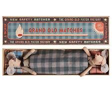 Maileg-Nonna Nonno & Topi in Grand MATCHBOX-in scatola con Cuscini & Biancheria Da Letto