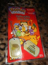 Pokemon Collectible Dog Tags # 28 Sandslash 1999 Limited Edition New in Package