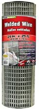 """Midwest 309221A 24"""" x 25' 14 Gauge Galvanized Welded Wire 2"""" x 1"""" Mesh Fencing"""