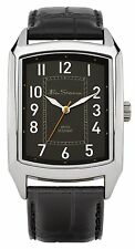 Ben Sherman Men's Quartz Watch with Black Dial Analogue Display and Black PU Str