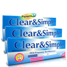 3x Clear & Simple HCG Midstream 20miU/ml of Sensitivity Pregnancy Test/Tests