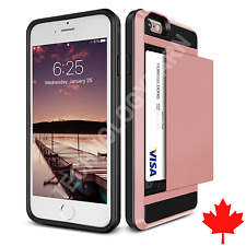 iPhone SE 5s 5 Slider Credit Card ID Holder Money Case Rose Gold