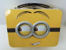 Minion DESPICABLE ME Lunch Box Tote Pencil Case Metal Can Pale Embossed 5.5""
