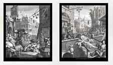 William Hogarth, Gin Lane y cerveza Street, 10x12 Impresiones