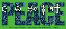 Coexist In Peace - Magnetic Small Bumper Sticker / Decal Magnet