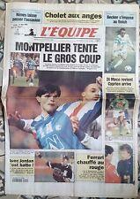A)L'Equipe Journal 9/02/1994; Montpellier/ Becker/ Cholet/ Eric Di Méco/ Jordan