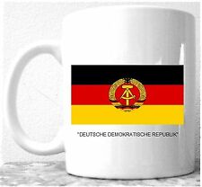 EAST GERMANY (DDR) FLAG Coffee / Tea Mug; East German National Flag-NEW
