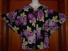 Blair Ladies size M Knit Top Bat-Wing Sleeves Jewel Embellished stock#2445