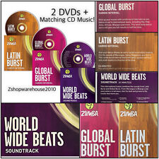 ZUMBA Burst Series BUNDLE 2DVDS~PLUS!!! CD+Matching Soundtrack MUSIC~Instructors