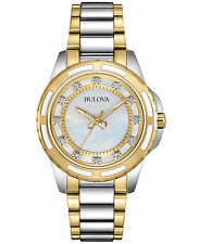Bulova Women's 98P140 Analog Display Japanese Quartz Two Tone Watch