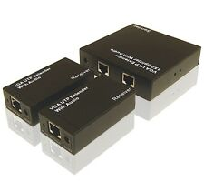 Professional VGA Balun Over Cat5/Cat6 Extender  W/Audio 1 VGA In With 2 VGA Out