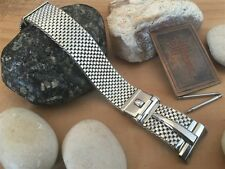 Rare Stainless Steel Mesh Premium 1950s Forstner USA Made Vintage Watch Band nos