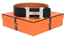 NEW AUTHENTIC HERMES 42mm REVERSIBLE LEATHER BELT KIT CONSTANCE 95cm H BUCKLE