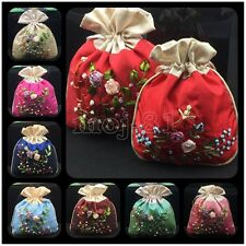 Wholesale 10pc Chinese Pretty Embroidered Silk Jewelry Pouch/Coin Purse Gift Bag