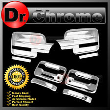09-14 Ford F150 Chrome Mirror+2 Door Handle+keypad+PSG keyhole Cover COMBO kit