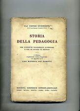 Pietro Eusebietti # STORIA DELLA PEDAGOGIA # SEI 1935