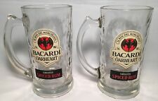 Set of 2 Bacardi Oakheart Smooth Spiced Rum Glass Mugs NEW in Box