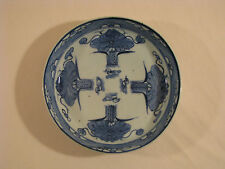 Antique Chinese Blue and White Porcelain Plate.  Marked